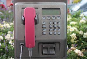 Llamada de teléfono público